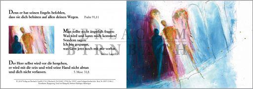 """Faltkarte Bahlinger """"Begegnung"""" Psalm 91,11"""