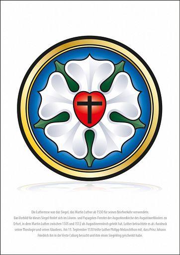 Poster Kirchenjahr - Lutherrose