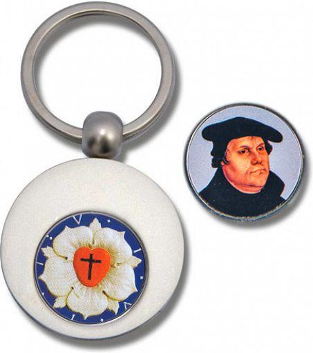 Schlüsselanhänger Luther mit Einkauf-Chip
