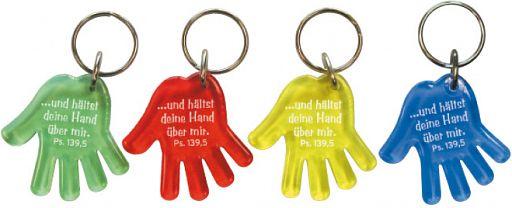 """Schlüsselanhänger Hand """"hältst deine Hand über mir."""""""