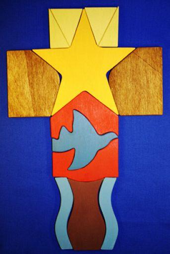 Mit dem Friedenskreuz durch das Kirchenjahr - Legekreuz
