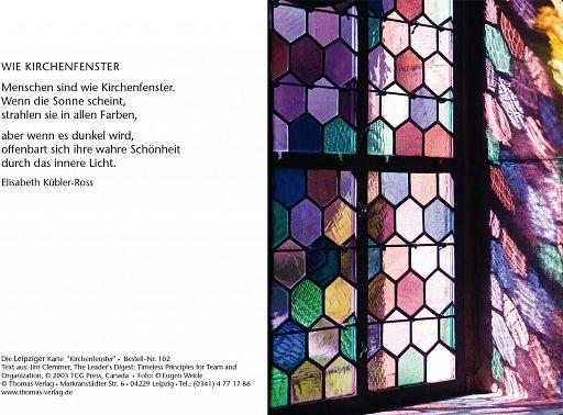 "Leipziger Karte ""Kirchenfenster"""