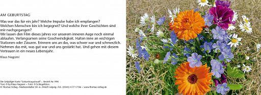 """Leipziger Karte """"Geburtstagsstrauß"""""""