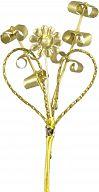 Myrtenstrauß Goldene Konfirmation, Anstecknadel zur Jubelkonfirmation
