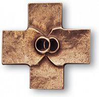 Ehekreuz Eheringe aus Bronze