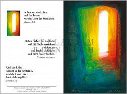 Faltkarte Bahlinger, zur Trauer - Johannes 1,4-5