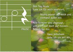 "Schaukastenposter 11 ""Pause"""