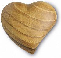 Herz asymmetrisch, aus Holz mit Maserung