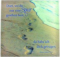 Glasrelief Spuren im Sand