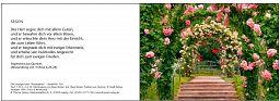 """Leipziger Karten, Segenskarten """"Rosenbaum"""""""