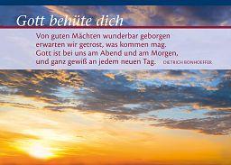 """Leipziger Spruchkarte """"Geborgen"""""""