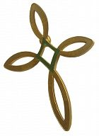 Ichthys-Kreuz-Pin eisern, Anstecker mit Fisch-Symbol